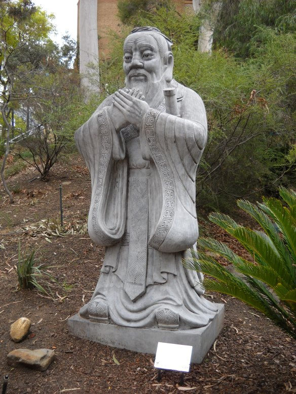 State of Confucius in garden