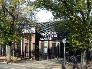 Entrance to the Public Records Office of Victoria