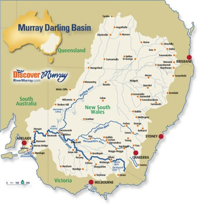 Map reproduced with permission of Discover Murray River - Official Murray River Travel Website.