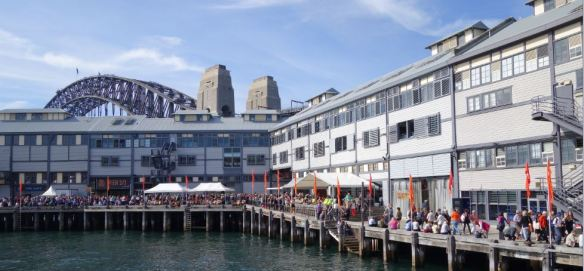 A glorious day at the hub of the Sydney Writers' Festival at Walsh Bay.