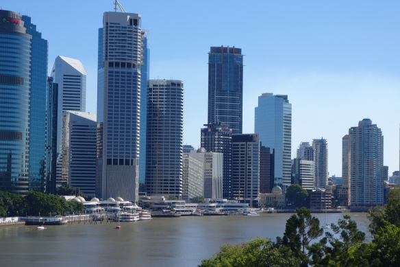 Tall CBD buildings with the Brisbane River in the foreground